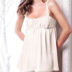 Victoria Secret  sheer White/Ivory Camisole medium